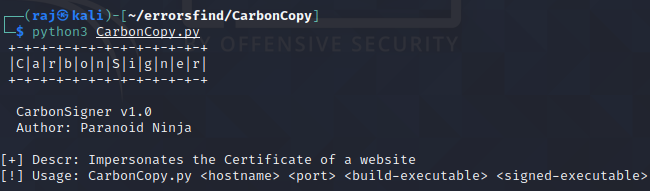 carboncopy tool