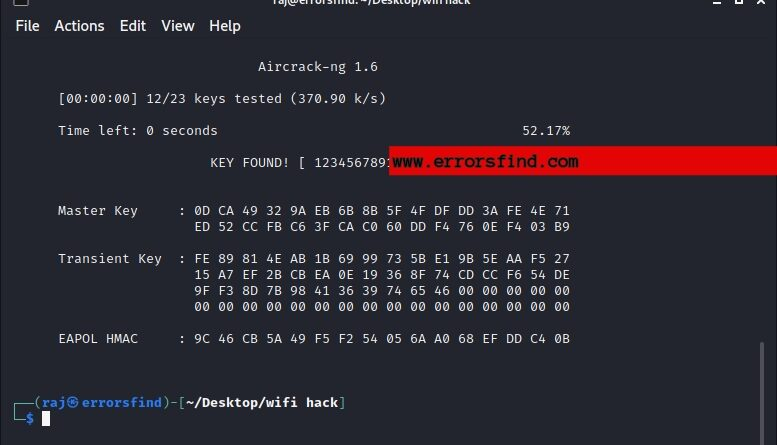 how to crack wifi password