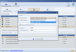 how to hide data into audio file