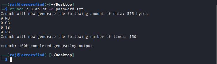 How to create wordlist n wifi password hacking
