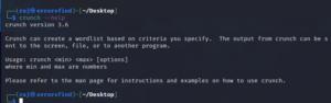 How to create wordlist file on wifi password hacking