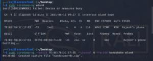 How to capture handshake file