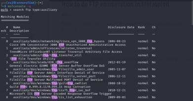 FTP enumeration – Using Metasploit FTP modules