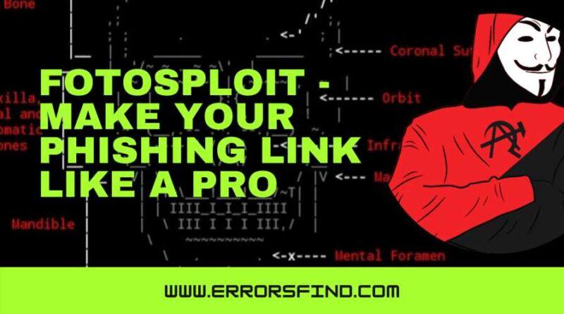Fotosploit - mask phishing URL like a pro