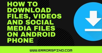 How to download any files on android phone